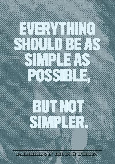 Simplicity Einstein Quote