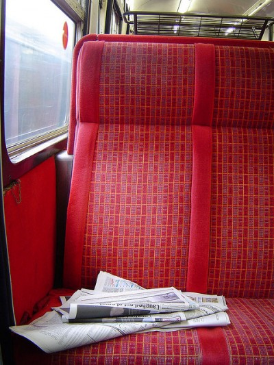 Rubbish on the train